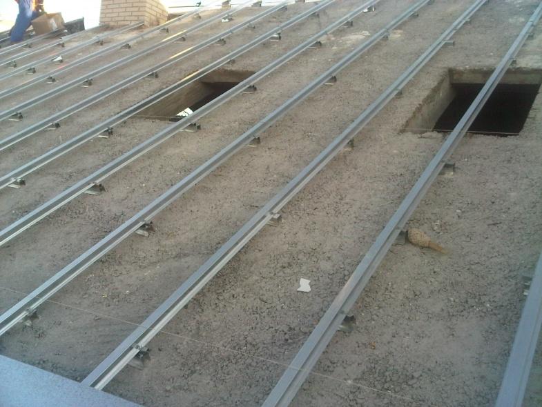 Cubierta teja for Tejado de madera o hormigon