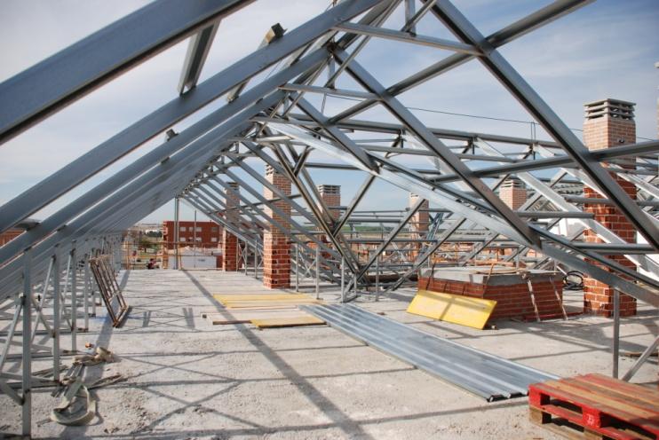 Cubierta teja - Estructura metalica cubierta ...