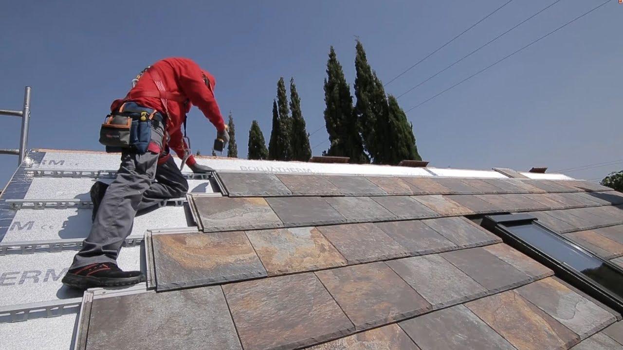 Montaje teja sobre rastreles