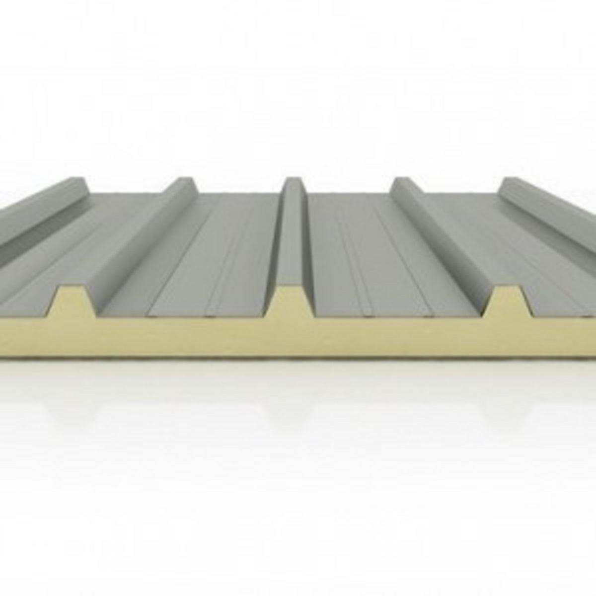 Panel s ndwich met lico de cubierta la casa por el tejado for Chapa imitacion teja sin aislamiento