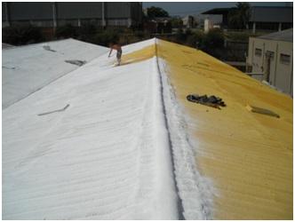Reparaci n de cubiertas con espuma de poliuretano la - Caucho para tejados ...