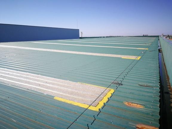 Rehabilitación de cubiertas planta logística 01