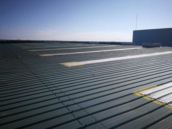 Rehabilitación de cubiertas planta logística 02
