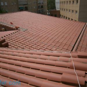 cubierta de teja curva